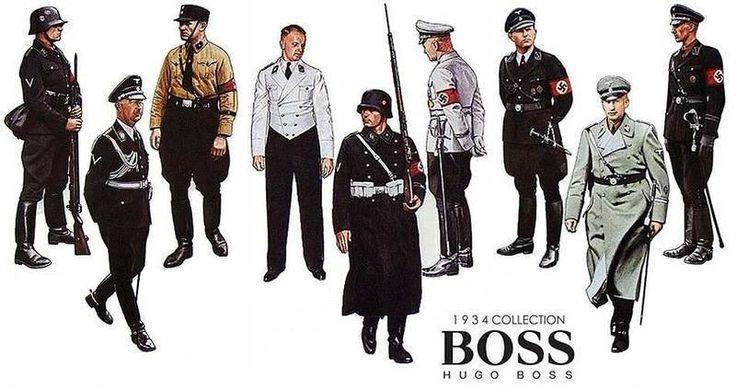 Форменная одежда для военных и офицеров СС, пошитая на фабрике Hugo Boss, 1934 год