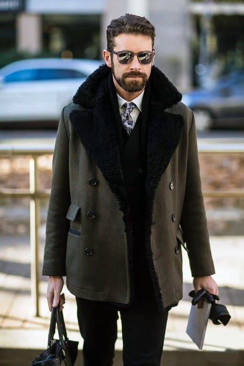Перчатки - важный аксессуар зимнего street-style гардероба мужчины 2017