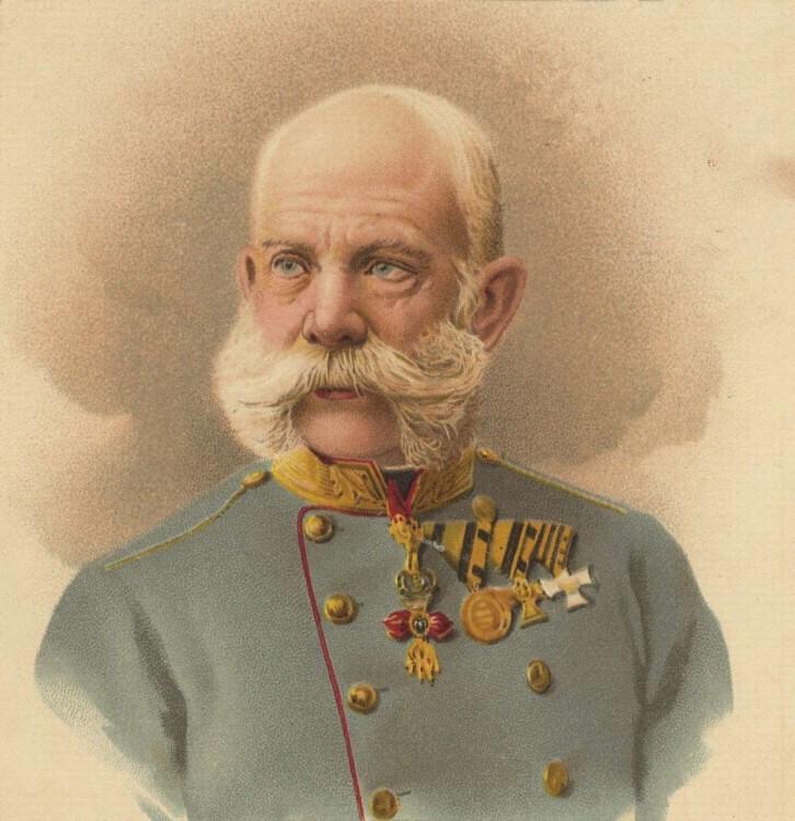 Борода Франца Иосифа является пышным вариантом стиля А-ля Суворов