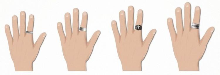 Кольца должны быть пропорциональны вашим рукам