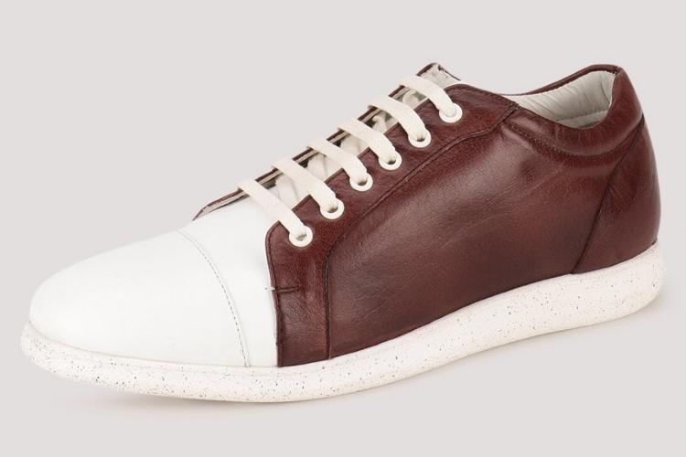 MARCELLO & FERRI - кожаные кроссовки с пестрой подошвой