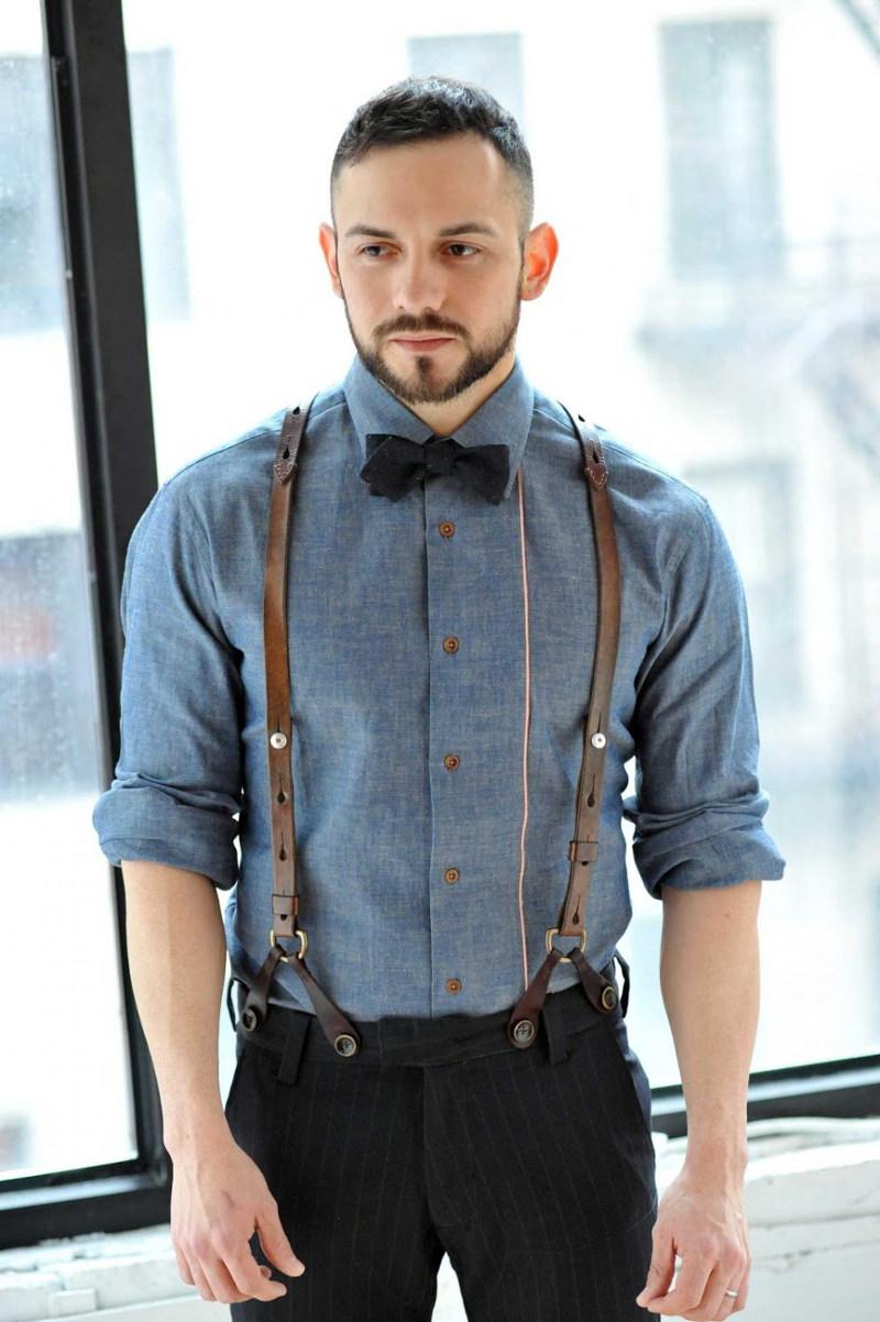 Кожаные подтяжки вернулись в моду несколько лет назад - в новом современном варианте