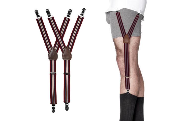 Рубашку можно удерживать и при помощи крепления к носкам