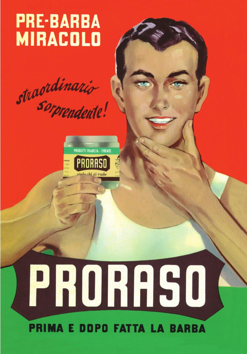 Тот самый Джино на рекламе крема до и после бритья от Proraso