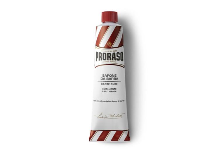 """Крем, или - если переводить дословно - """"мыло в тюбике"""", из красной линии Proraso"""