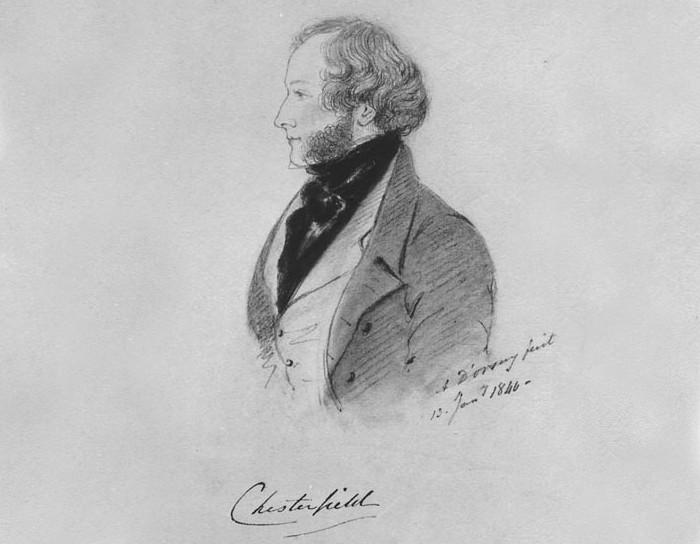 Портрет Джорджа Стэнхоупа, 6-го графа Честерфилда... в пальто Честерфилд