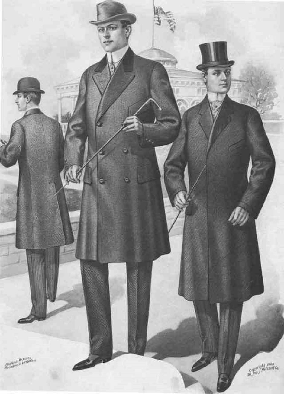 Примерно так выглядели пальто Честерфилд в XIX веке. Найдете 10 отличий от сегодняшних?