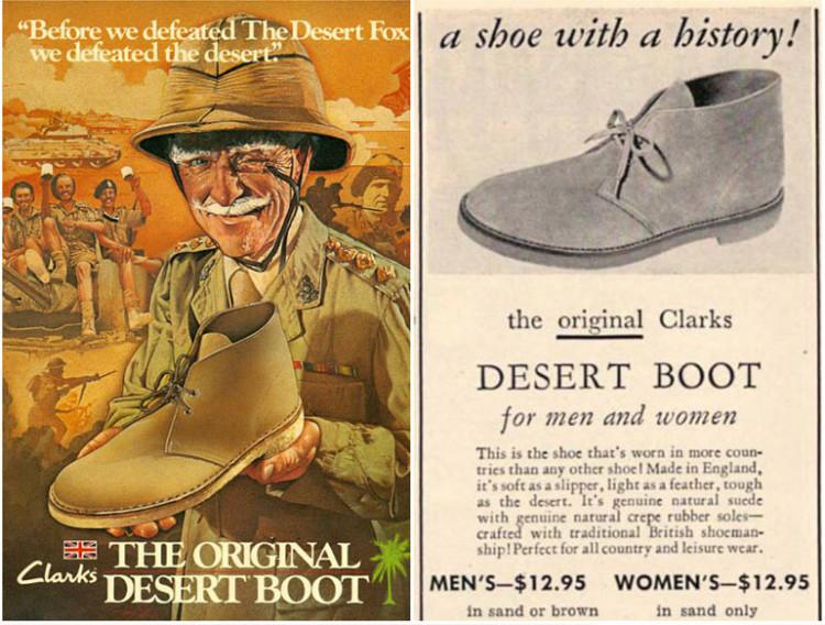 Дезерты - замшевый вариант ботинок чукка - стали популярными в послевоенное время