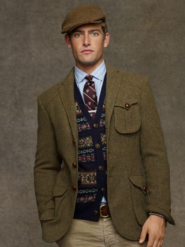 """Твидовый костюм отлично сочетается с цветными жилетами, кепками и другими типично """"английскими"""" элементами гардероба"""