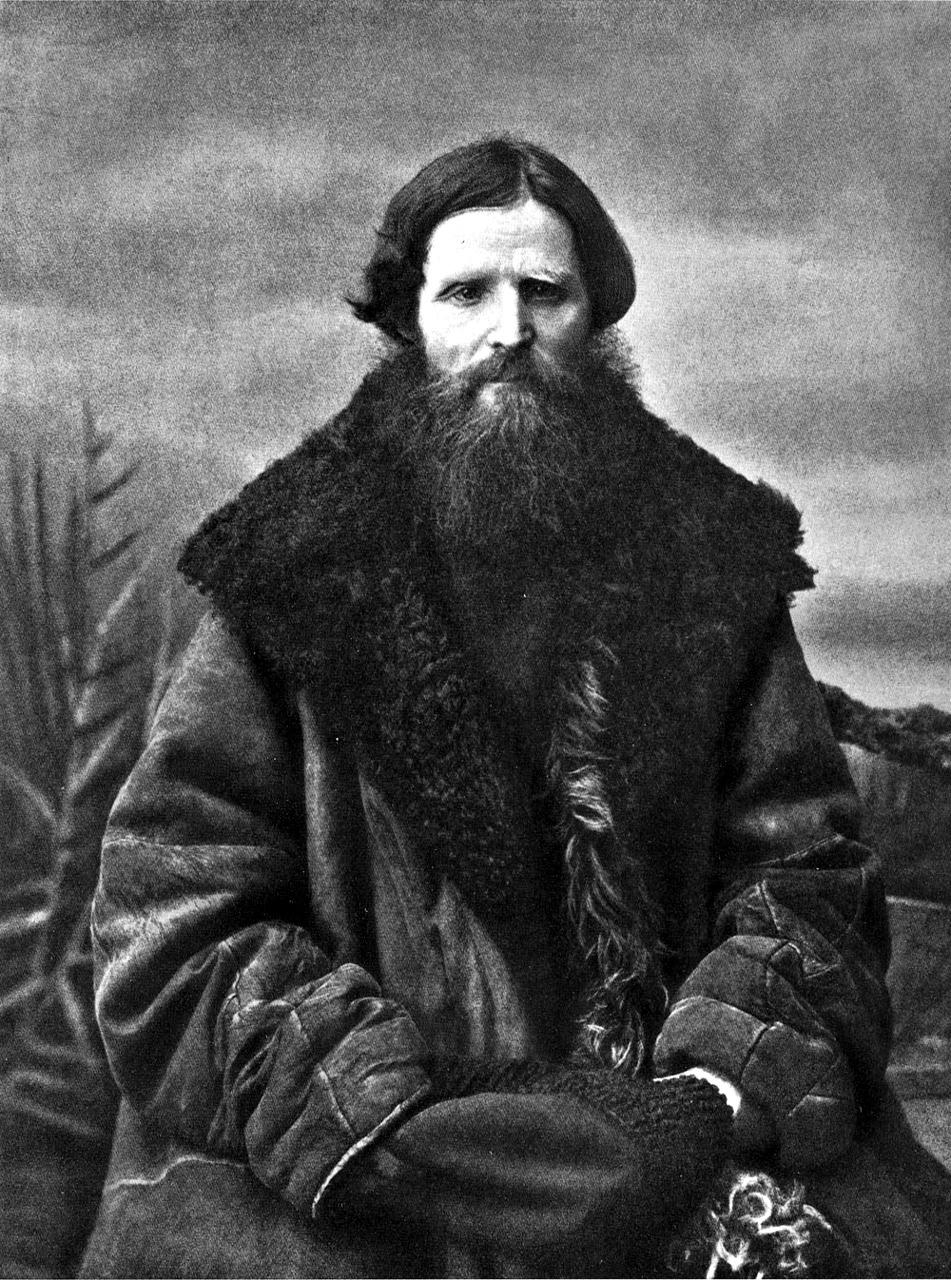 Примерно так выглядели мужские дубленки в конце XIX века