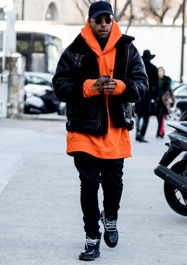 Оранжевый – хорошее связующее звено для любого комплекта