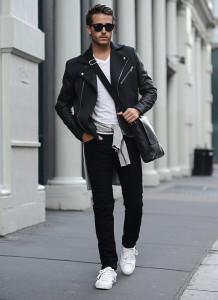 Lookbook - кожаная куртка