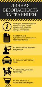 Правила личной безопасности за границей