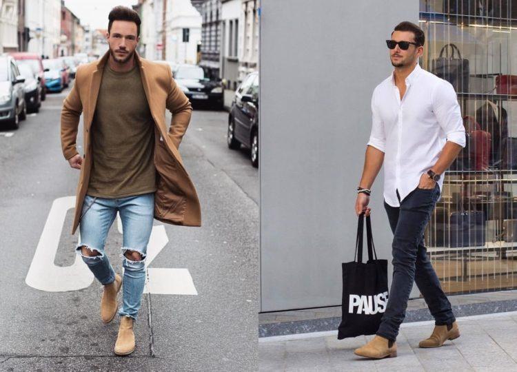 Очень стильные casual looks сочетания челси с джинсами