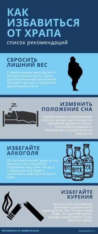Инфографика Причины храпа и как от него избавиться