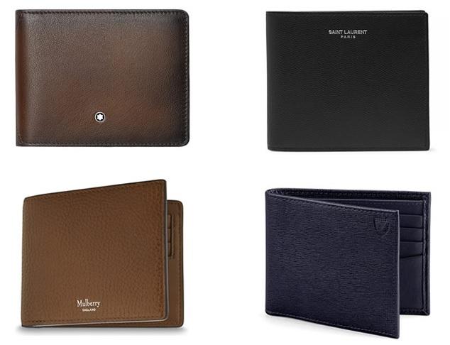 Кожаный бумажник от SAINT LAURENT - долговечный аксессуар мужчины