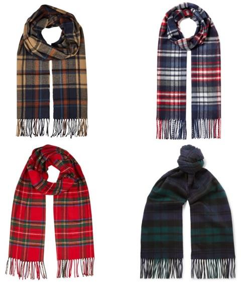 Сотканный из натурального волокна в традиционном клетчатом стиле с кисточками - отличный выбор для холодных месяцев