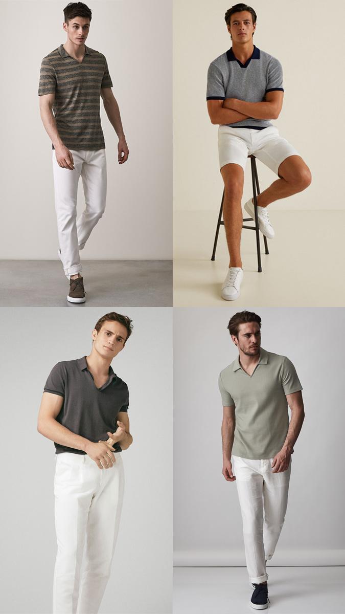 Вот как просто и со стилем может выглядеть стандартная рубашка поло без пуговиц