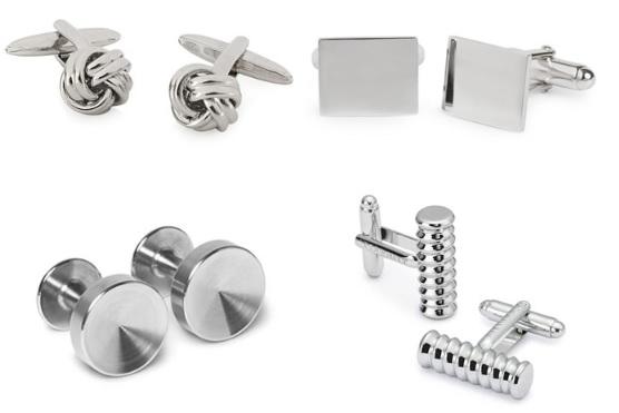Запонки, изготовленные из чистого серебра добавят элегантности вашему индивидуальному профилю