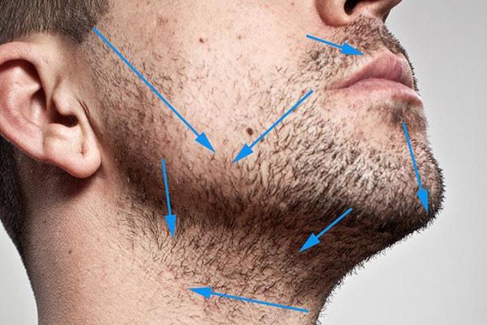 Изучите направление роста волос