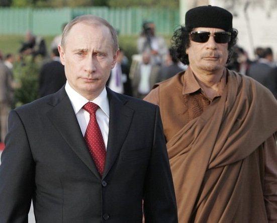 В.В. Путин и Муаммар Каддафи