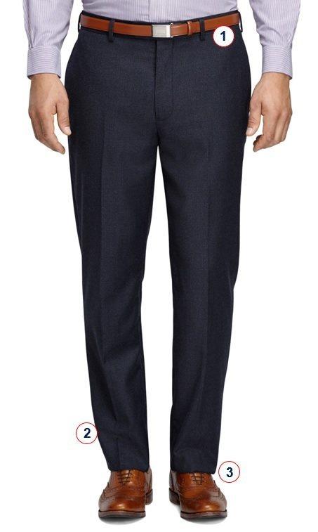 Как должен сидеть костюм, брюки
