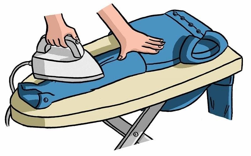 Гладим рукава и манжеты