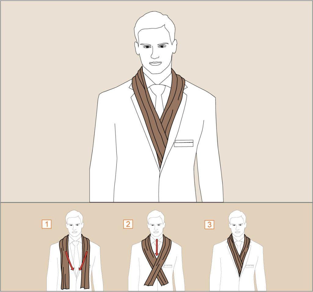 Как завязать шарф драпировкой