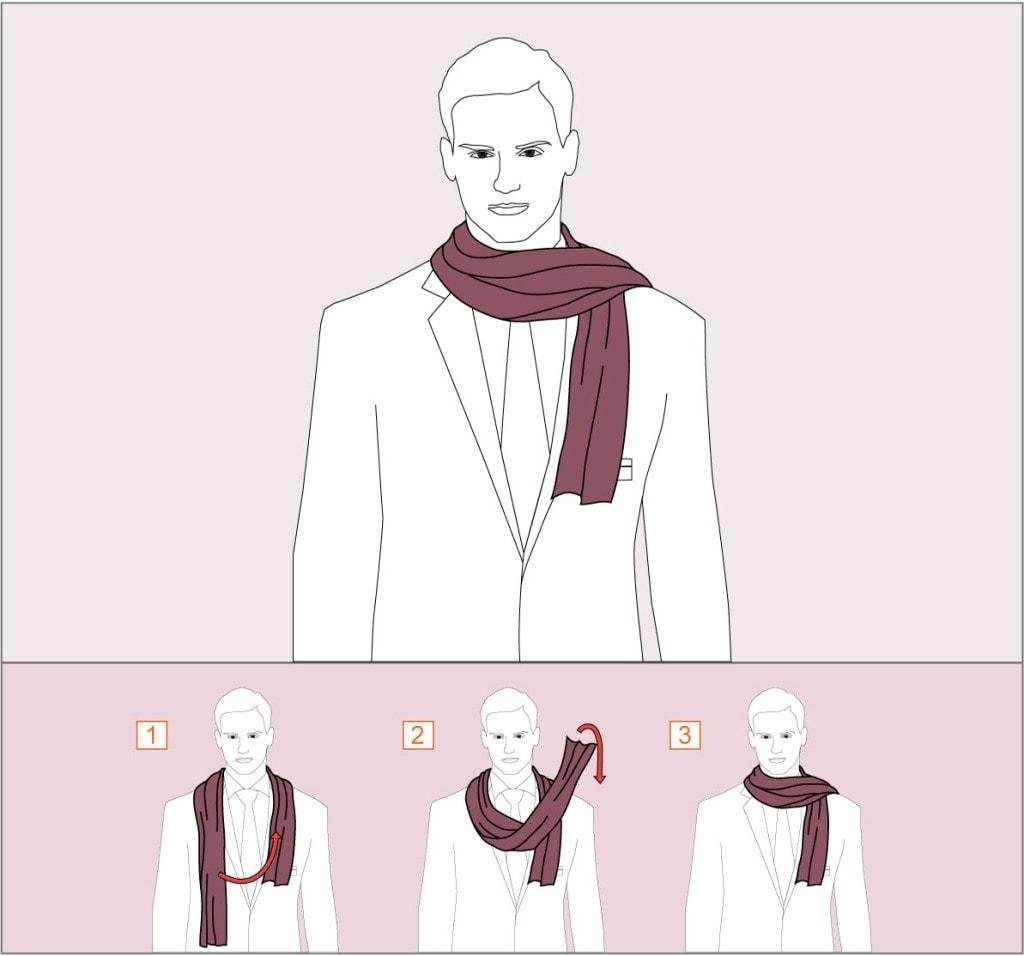 Как завязать шарф в стиле художника