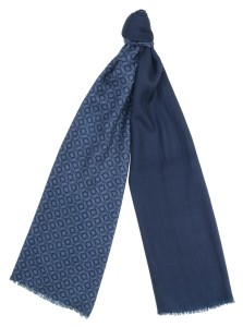 Шарф с узорами, ширина 70 см, текстильный