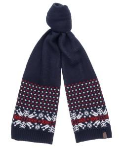 Шарф текстильный, со скандинавским узором, ширина 35 см