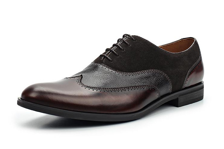 Туфли черно-коричневые  Conhpol