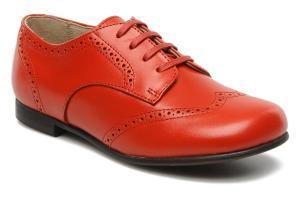 Красные кожаные броги