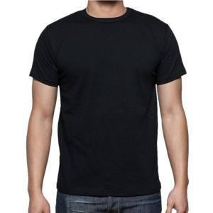 Черная футболка с круглым воротником