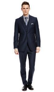 Мarksandspencer_темно-синий классический костюм