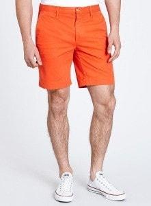 Мужские шорты оранжевого цвета