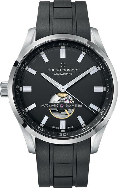 Мужские швейцарские механические наручные часы Claude Bernard 85026-3CANV
