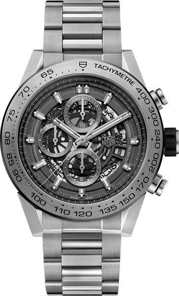 Мужские швейцарские механические наручные часы TAG Heuer CAR2A8A.BF0707 с хронографом