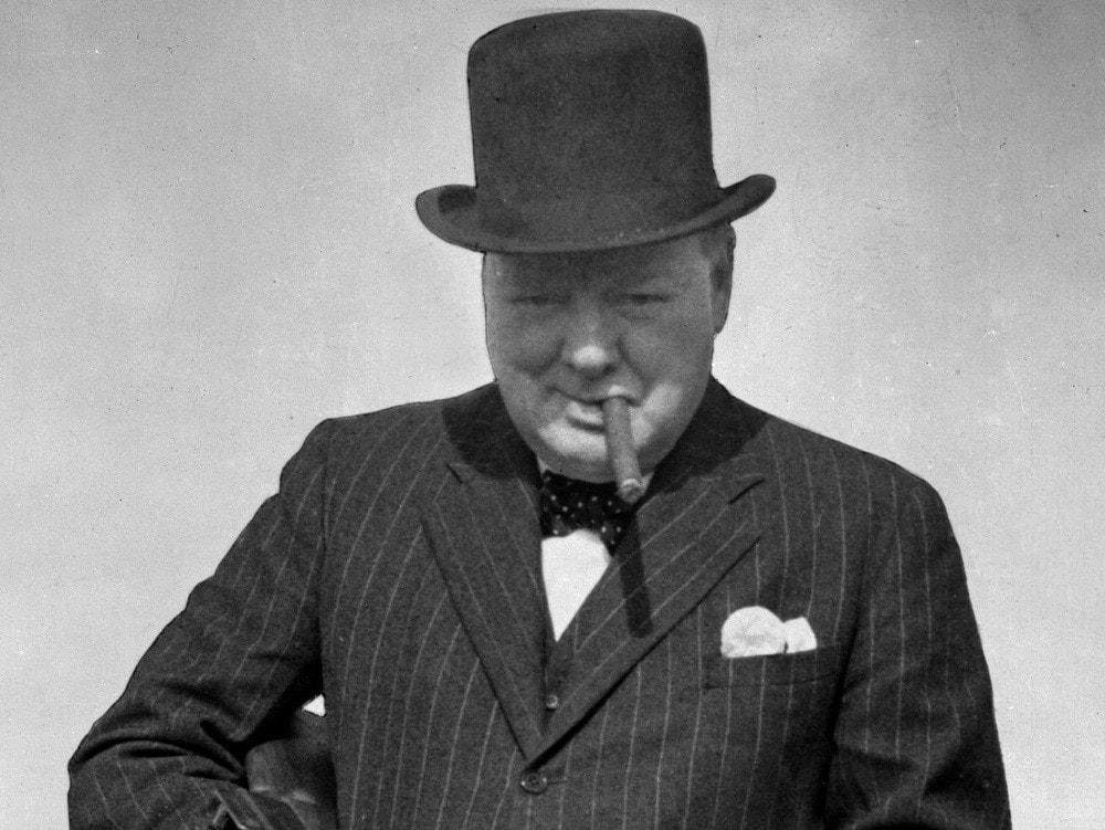 Уинстон Черчилль и его галстук-бабочка