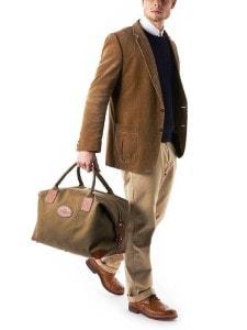 Бежевая дорожная сумка
