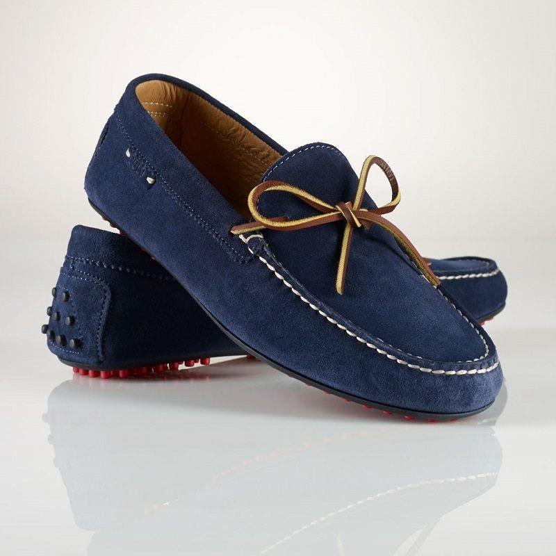 Casual обувь мокасины темно-синего цвета