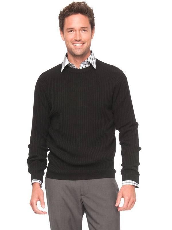 Формальный свитер с круглым вырезом