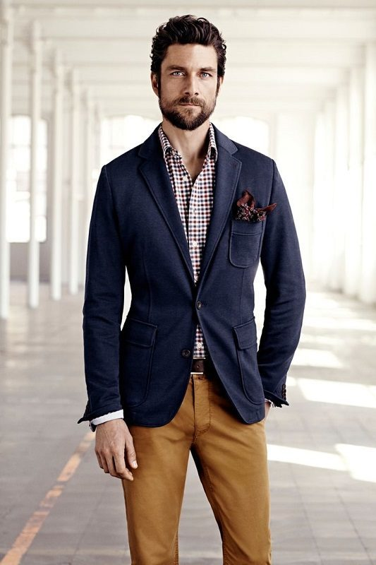 Спортивный мужской пиджак с чем носить