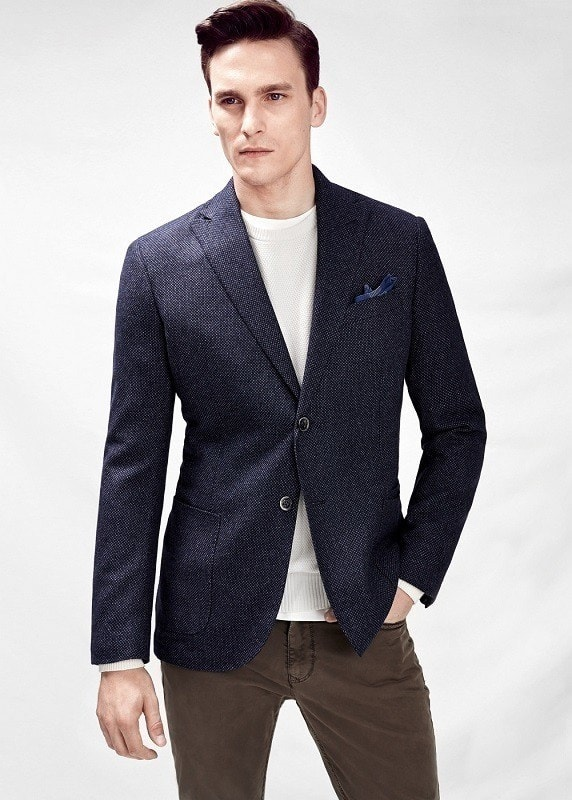 Темно-синий casual пиджак
