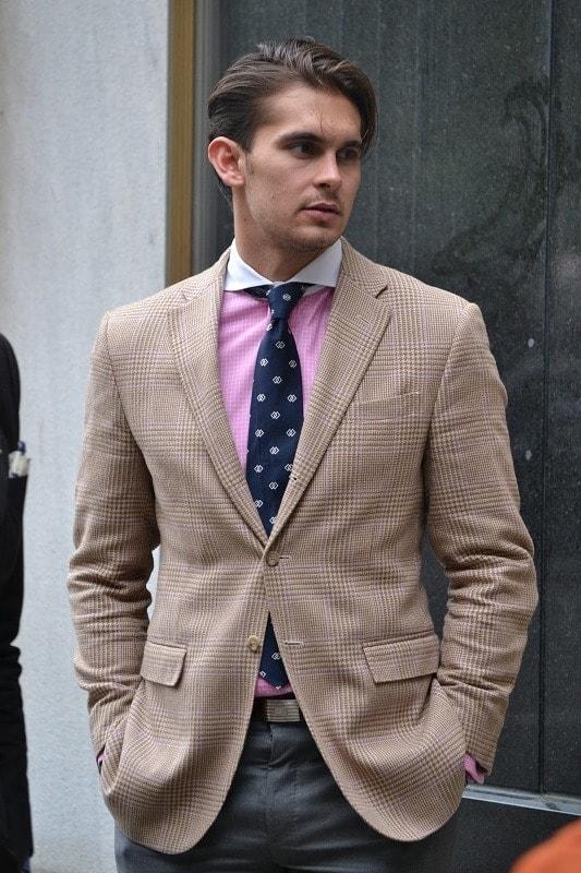 Брюки и рубашка с коротким рукавом мужская - f97