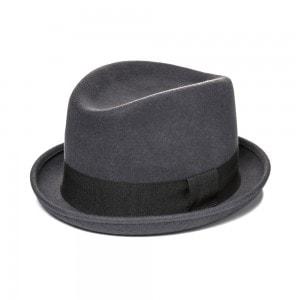 Мужская деловая шляпа Хомбург