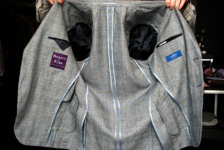 Летний пиджак без подкладки
