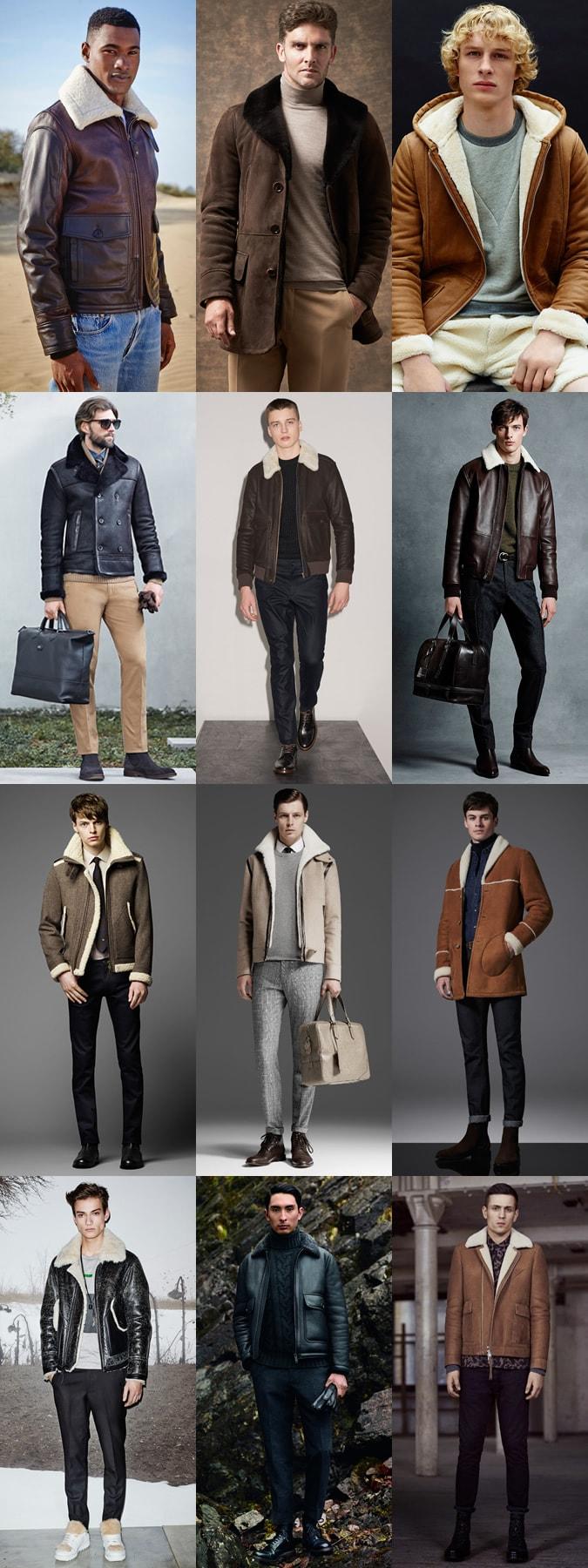 Мужские куртки и дубленки с овечьей шерстью сезона осень - зима 2015-2016