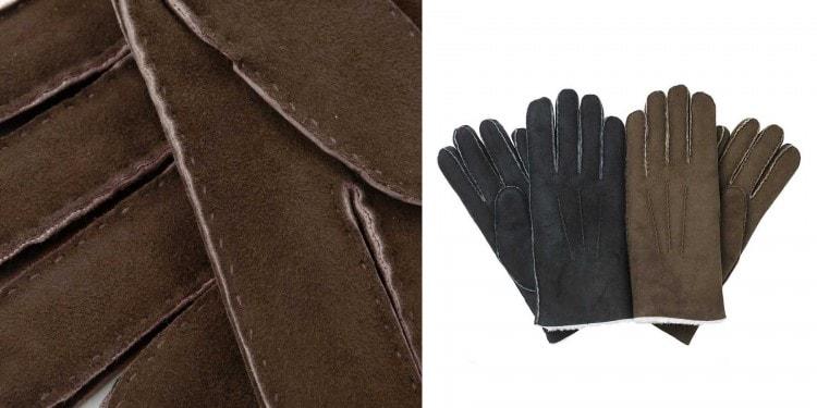 Мужские перчатки из кожи овцы