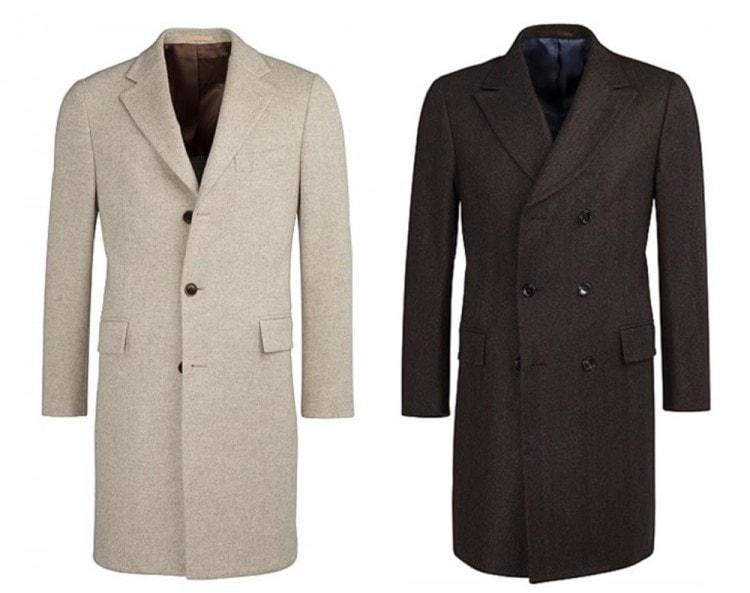 Однобортное и двубортное палто